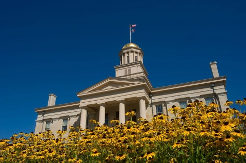 Old Capitol during fall.